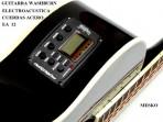 Guitarra Washburn  EA - 12 Negra Cuerdas Metalicas Electroácustica Equalizador Con Afinador