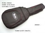 Funda Mesko Super Acolchada Para Guitarra Clásica, Negra, Producto Chileno