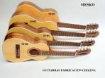 Solo Relación Tamaños de Guitarras Fabricación Chilena  Cuerdas  Nylon