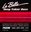 La Bella Juego De 4 Cuerdas Para Bajo 060 - 115 = 760 N