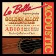La Bella  AB 10  Juego De Cuerdas Bajo Acustico  040 - 096