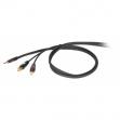 Cable Proel DH 525 LU 3 Plug 6.3 Mono - RCA  1.8 Metros