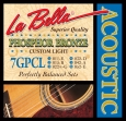 Juego 6 Cuerdas Acero Guitarra Acústica  Phosphor Bronze La Bella 7 GPCL = 011 - 052