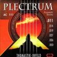 Juego  Cuerdas Thomastik Plectrum Bronce AC 111 Guitarra Acustic = 011 - 014 - 019 - 027 - 036 - 050