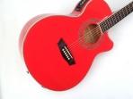 Guitarra  Washburn EA - 12 Roja Cuerdas Metalicas Electroácustica EQ con Afinador