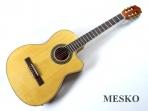 Guitarra Sevillana Electroácustica Cuerdas  Nylon  con Equalizador 4 Bandas