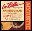 Juego Cuerdas Metalicas La Bella 40 PT Para  Guitarra Acústica  10 - 14 - 20 w - 28 - 38 - 50