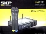 Sistema Vocal de 2 Micrófonos Inalámbrico UHF  SKP 261