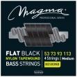 Juego De 4 Cuerdas Para Bajo Acustico Magma FLAT BLACK Nylon Tapewound BE 500 NB