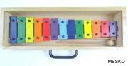 Metalófono 13 Notas. Diatónico,de Color, Placas Grandes de Aluminio Duro