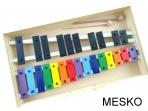 Metalófono 25 Notas Cromático, de Color, Placas Grandes de Aluminio