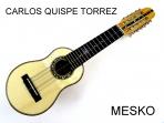 Charango Carlos Quispe Torrez, Linea Profesional, Tapa Pino Abeto Caja Naranjillo, Puente y Diapasón de Ebano