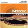 Juego de 6 Cuerdas Metálicas D'addario EZ 900 Bronze 010 - 050
