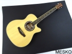 Guitarra Mercury MPEA 1 NA  Natural Cuerdas Metálicas Electroácustica, Caja Baja
