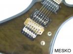 Guitarra Eléctrica Memphis MB-BK, 24 Espacios,  2 Cápsulas Dobles con Microafinación