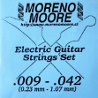 Juego Cuerdas Acero Moreno Moore Para Guitarra Eléctrica  09  -  042