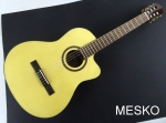 Guitarra Cort AC 160 CF  ANT  Con Equalizador Fishman, Cuerdas Nylon  Incluye Funda