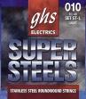 Juego Cuerdas Acero Guitarra Eléctrica GHS Super Steels 010 - 46