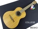 Guitarra Alhambra COLLEGE, Cuerpo: Cedro Macizo Fondo y aros: Wengué, Diapasón y puente: Mongoy, Acabado: Natural Opaco, Cuerdas: D'Addario Pro Arte EZ Accesorios: Funda Alhambra incluida